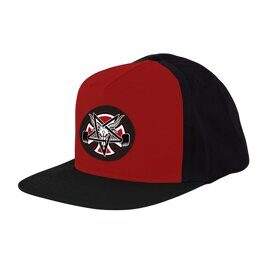 Бейсболка Independent x Thrasher Pentagram Cross Adjustable Snapback Hat Cardinal Black