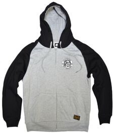 Толстовка Footwork Zip Hood Retro Skull grey