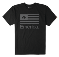 Футболка Emerica Pure Flag - black.