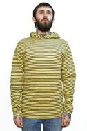 Лонгслив с капюшоном Fallen Newport Hood Stripe Mens Long Sleeve t-shirt blk/wht