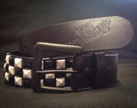 Ремень Vans Vstud Leather Belt Black White