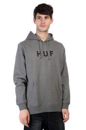 Толстовка HUF Original Logo Pullover gray heather