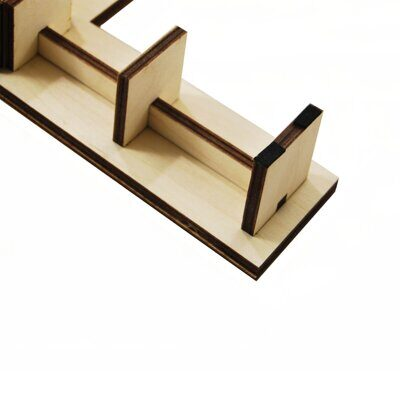Фигура Pars angle bench wooden top