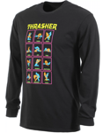 Лонгслив Thrasher Black Light Longsleeve Black