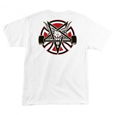 Футболка Independent x Thrasher Pentagram Cross Regular T-Shirt White