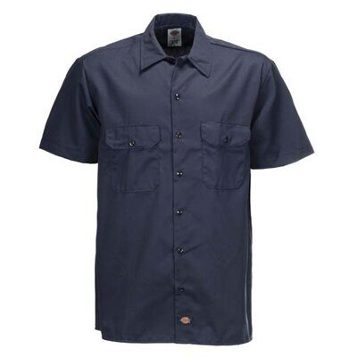 Рубашка Dickies Short Sleeve Work Shirt Dark Navy
