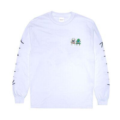 Лонгслив Ripndip Butts Up Long Sleeve White