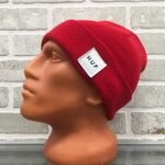 Шапка HUF Box Logo Beanie Red Heather