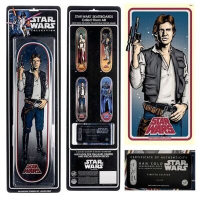 Дека для скейтборда Santa Cruz x Star Wars Collectible Han Solo 31,7 in  8,26