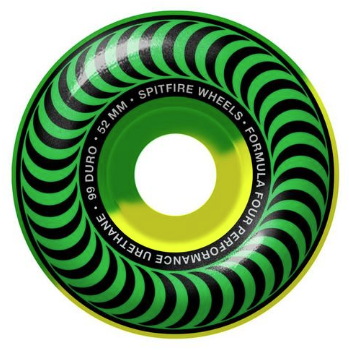 Колеса SPITFIRE F4 CLASSIC 5050SWL Green Yellow 52MM 99A
