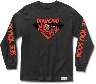 Лонгслив Diamond See You Soon Tee Black