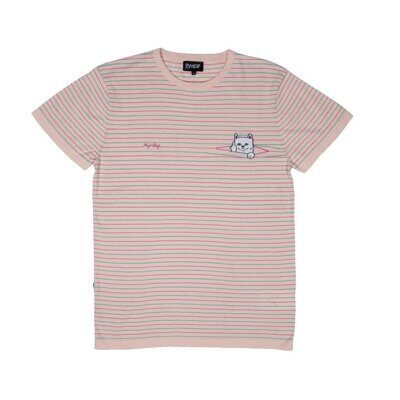 Футболка Ripndip Peeking Nermal Knit Tee Light Pink Teal
