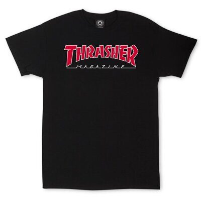 Футболка Thrasher Outlined Black