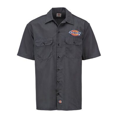 Рубашка Dickies Clintondale SS Work Shirt Charcoal Grey