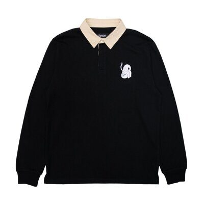 Поло Ripndip Praise Polo Rugby Black Natural
