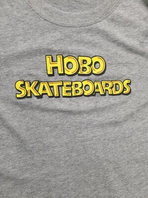 Футболка Hobo Skateboards Gray Logo
