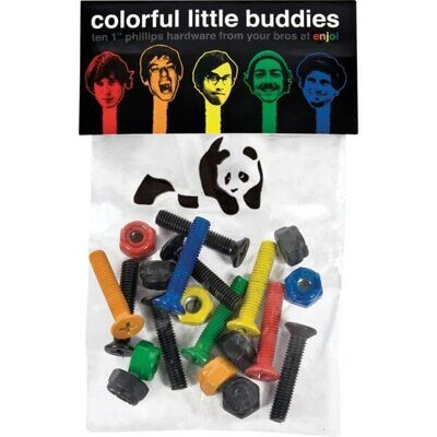 Винты Enjoi Little Buddies Anodized Bolts Pk Multi