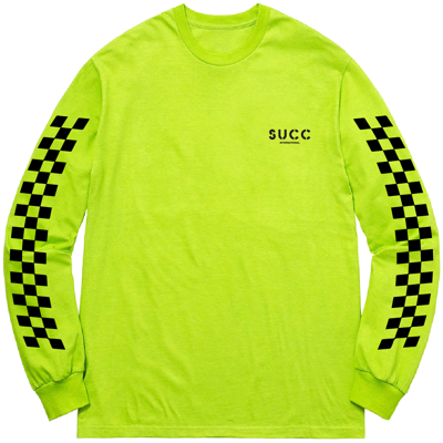 Лонгслив Succ Sorry For Everything Long Sleeve Safety Green