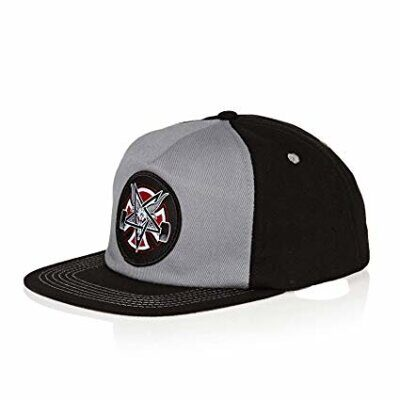 Бейсболка Independent x Thrasher Pentagram Cross Adjustable Snapback Hat Grey Black