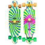"Скейт в сборе Dusters SS18 California Locos Longboard 34"" Green/Yellow"