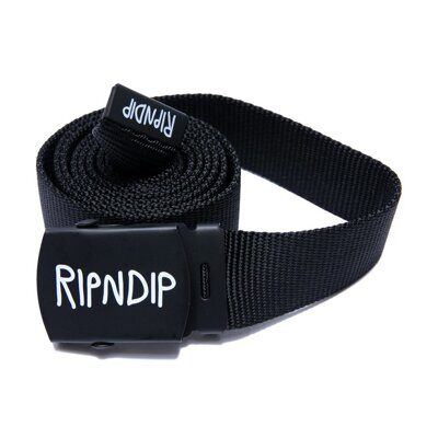 Ремень Ripndip Logo Web Belt Black