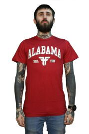 Футболка Fallen Alabama burgundy/wht