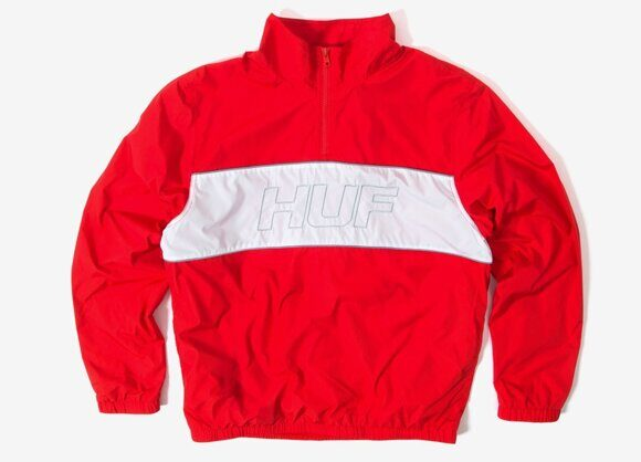 Олимпийка HUF Stadium Half Zip Track Jacket Red