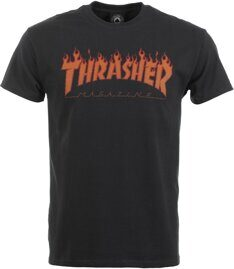 Футболка Thrasher Flame Halftone T-shirt Black