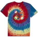 Футболка HUF x South Park Trippy Tie Dye Tee Rainbow