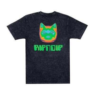 Футболка Ripndip Thermal Nermal Tee Black Vintage Wash
