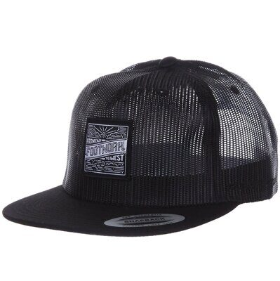 Бейсболка Footwork EAST SQUARE BLACK ALL MESH