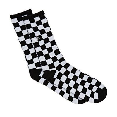 Носки Vans Checkerboard Crew Black White