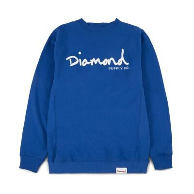 Толстовка Diamond OG Script Crewneck Fl17 Royal