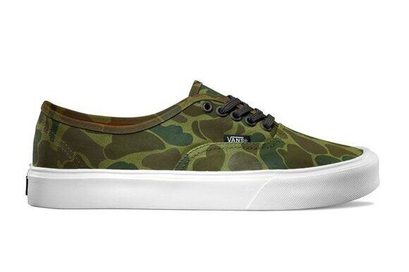 Кеды Vans Authentic Lite (Camo) Green/True White