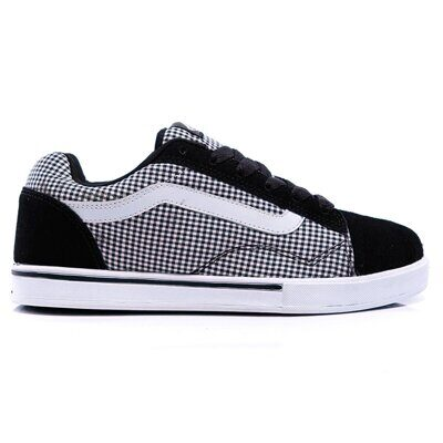 Кеды Vans No Skool Junior Plaid Black White