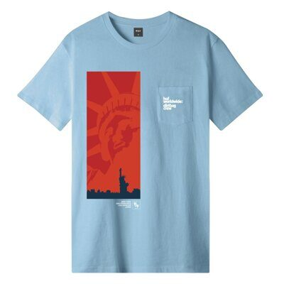 Футболка HUF Liberty S/S Pocket Tee Greek Blue