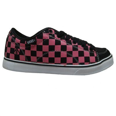 Кеды Vans DD-66 Checkerboard Black Pink