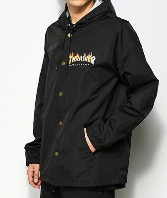 Куртка Thrasher Flame Mag Coach Jacket Black