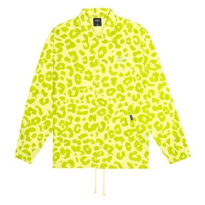 Куртка HUF Neo Leopard Coach Jacket Hot Lime