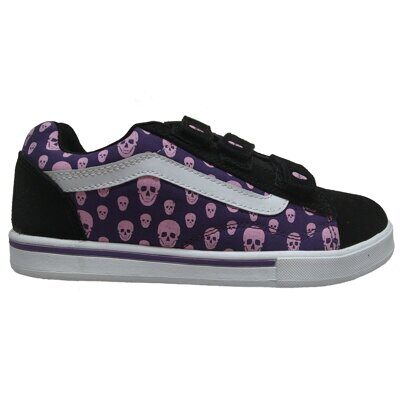 Кеды Vans No Skool 3 Strap Skulled Black Purp Plume