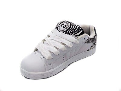 Кеды Globe Focus Girls White Black Zebra