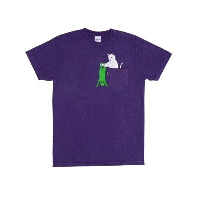 Футболка Ripndip Break Yo Self Tee Purple Mineral Wash