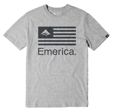 Футболка Emerica Pure Flag - grey/heather