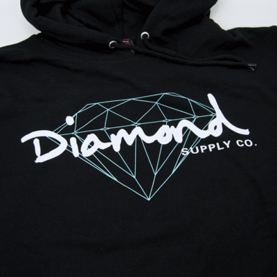 Толстовка Diamond Brilliant Script Hoodie Black