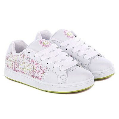 Кеды Globe Shift Girls White Pinl Lime Blitz