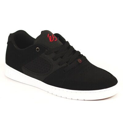 Кеды Es Accel Slim black white red