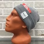 Шапка HUF Box Logo Beanie Grey Heather