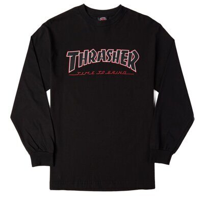 Лонгслив Independent x Thrasher TTG Regular T-Shirt Black