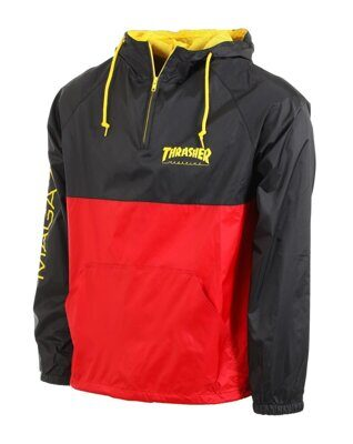 Анорак Thrasher Mag Logo Anorak Black Red