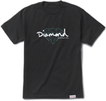 Футболка Diamond Brilliant Script Tee Black
